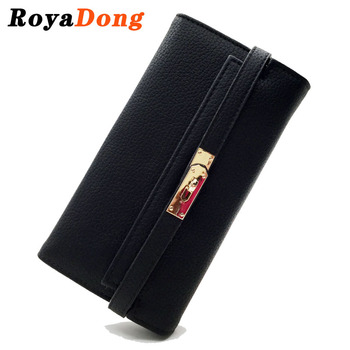 RoyaDong New 2016 Women Wallets Artificial Leather Vintage Long Style Female Purses Day Clutch Bags