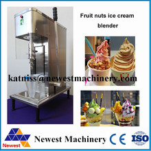 Free shipping Top quality cheap price feozen yogurt fruit nuts ice cream blender mixing machine for sale