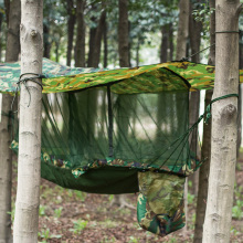 Outdoor camouflage  single  hammock tent with covering mosquito net to protect from mosquito camping equipment