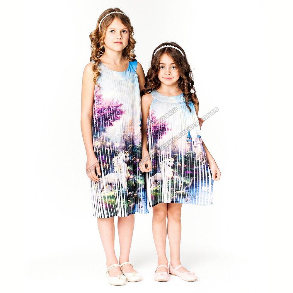 Baby Girl Summer Dress 2017 Kids Dress For Holiday Party Wedding Children Clothes Summer Cartoon Printing Princess Dress<br><br>Aliexpress