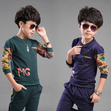 2017 New Springs Autumn Baby Boys Sports Suits Korean Kids Clothes Boy Clothing Set Long Sleeve T-shirt Pants 4T 6 8 10 12 Years