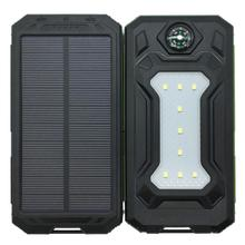 Outdoor Dual USB DIY Assembling Solar Power Bank Box Case Kit Set Compass LED Light Powerbank Cellphone Camping - Ankey Direct sales stores Store store