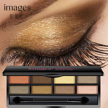 IMAGES New 8 Colors Mineral Powder Shimmer Eye Shadow High Fidelity Colors & Effects Eyeshadow Palette Matte, satin, metallic(China)