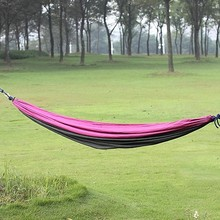 Parachute cloth hammock on the way Double hammock Lovers swing hammock Leisure hammock Camping equipment