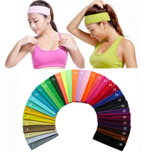 2 inch Solid Cotton Headband Sports Softball Sweatband Hair Band Bandage On Head Turban Bandana Elastic(China)