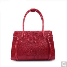 weitasi Crocodile leather women handbag fashion large-capacity classic big bag red alligator leather bags factory Direct Sales(China)