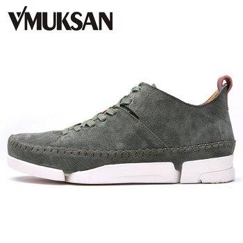 VMUKSAN Marca Zapatos Para Hombre 2017 Nuevos Zapatos Casuales Zapatos de Gamuza de Cuero de Moda