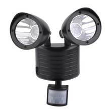 Black High Performance 5.5V/180mA Super Bright 22LED Solar Powered Motion Sensor Security Light Garden Garage Outdoor(China)