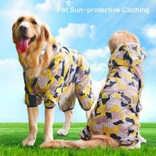 Large Dog Coat Breathable Pet Puppy Clothes Sun UV Protection Protective Clothing Summer Camo Lovely Cute Jumpsuit Pants(China)