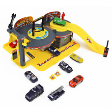 Assembling Building Blocks Diecasts & Toy Vehicles Cars Miniature Garage Repair Station Center Parking Lot Station Birthday Gift