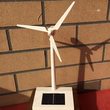 Mini Solar Wind Power Wind Turbines Model Teaching Wind Turbines Solar Power Model Kids Assembly kit