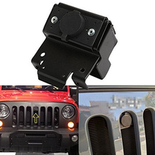Grille Hood Lock Kit Front Engine Compartment Hood Cover Anti-Theft Assembly locking Hood Catch Unlimited For Jeep Wrangler JK(China)