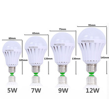 LED Emergency Light Bulb Emergency Bulb Automatic Charging 5/7/9/12W Rechargeable Battery E27 Lamp ALI88