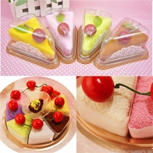 Fashionable Durable Household Sandwich Shape Cake Ornament Towel Present FG(China)