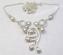 Pure Silver DROP FRESH WATER PEARL GIRLS' WELL MADE Necklace 16 3/4 Inches