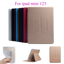 Flip Case For Apple iPad Mini 123 PU Leather Soft Silicon TPU Back Covers Tablet Stand Card Slots Shield Protect Shell housing