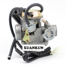 XUANKUN  GY6 Carburetor 125 150 ATV Scooter 24 Caliber Carburetor