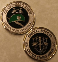 Army Special Forces Green Beret Challenge Coin 50pcs/lot DHL free shipping