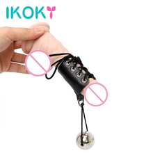 IKOKY Penis Enlarger Stretcher Penis Growth by Weight Sex Toys for Men Male Cock Ring Extender Exercise with Heavy Metal Ball