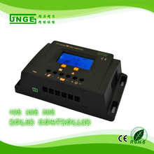 JNGE Power 10-30A 12v/24/48V PWM solar charge controller LCD display timer and light control with 5v USB full protection(China)