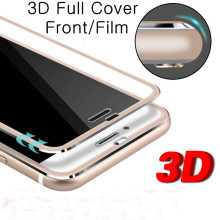 Premium Tempered Glass Cover 3D Metal Frame Glass for iPhone 5s 6s 7 Anti-scratch Screen Protector Full Body Saver Glass Film