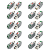 CCTV Camera Cat5 UTP Passive BNC Video Balun Transceiver Receiver 12Pairs(China)