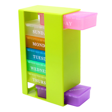 21 Slots 7 Day Medicine Storage Box Pill Organizer Weekly Vitamins Container ABS+PP Travel Colorful Portable Cute 2017 New Boxes
