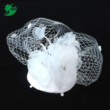 Fashion Church Wedding hats fascinator headpiece Bride hats with combs Mesh hair ornaments Party Headdress Manufacturer 89095
