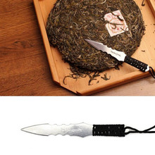 New Hot stainless steel metal insert tea set  Puerh tea Knife needle Puer knife cone thickening puer knife tea