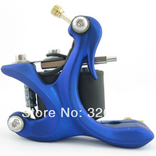 One 10 Wrap Coils Aluminum Alloy Frame Tattoo Machine Gun For Kit Set Supply DTM02-A