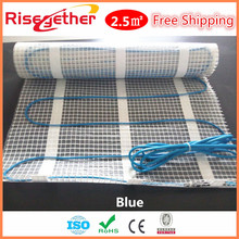 2.5M2 375W Underfloor Heating Parts 220V Electric Floor Heat Cable Mat Factory Low Price Heating Floor Kits Mat(China)