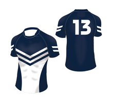 Specialized 100% polyester made ladies sublimation custom rugby jersey