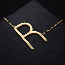Rinhoo Fashion Letter Necklaces Pendants Alfabet Initial Necklace new Stainless Steel Choker Necklace Women Jewelry(China)