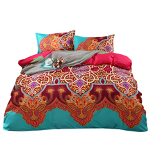 Svetanya Boho Printing Quilt Cover Sets US Twin Queen King Size Bedding Sets Colorful Bedclothes Cheap Bed Linens