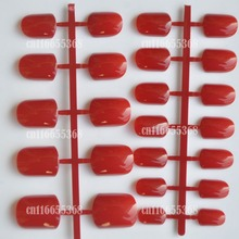 24pcs Shiny Deep Red Fashion Candy Women False Nails Sparkly Nail Art Full Wrap Tips Hand Nails Salon Product Wholesale No.156(China)