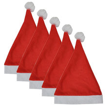 5PCS Christmas Party Santa Hat Red And Blue Cap for Santa Claus Costume New  Design Cap Good Quality For Holiday HK 50 195cc8efa52