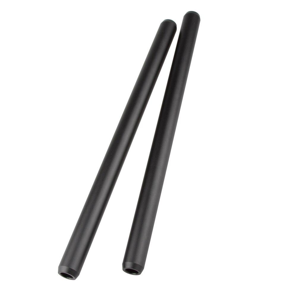 CAMVATE 15mm Aluminum Rod 30cm For DLSR Camera Cage Rig 2 Pack (2)
