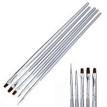 5pcs/set Nail Art Styling Design Painting Drawing Liner Brushes Manicure Dotting Pen Tool Set Kit free shipping
