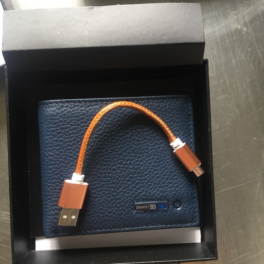 Leather Anti-Lost Smart Wallet - Android-IOS