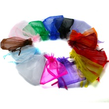 Top Quality 9x12cm Selection 16 Colors Wedding Gift Pouch Bags Organza Jewelry Packaging Display & Jewelry Pouches