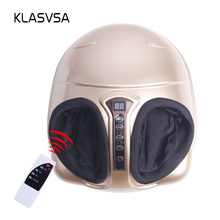 KLASVSA Electric Shiatsu Foot Massager Far Infrared Heating Kneading Air Compression Reflexology Massage Device Home Relaxation(China)