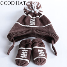 2 piece/ set knitted hat gloves baby winter cap rabbit knit beanie bonnet warm hats for children warmer for(China)