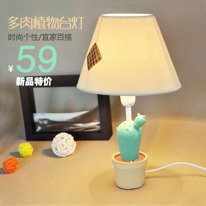 Resin fleshier plant table lamp bedroom bedside lamp fashion rustic decoration lamp cartoon night light<br><br>Aliexpress