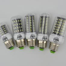 High Luminous Flux 4014 SMD No Flicker LED Corn Bulb E27 E14 220V LED lamp Spot light 38 55 78 88 140LEDs Smart Power IC(China)