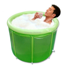 Size 100 * 80cm Water Beauty Extra Large Double Inflatable Bathtub, Adult Folding Bathtub, Adult Bathtub, Bath Barrel Air Condit(China)
