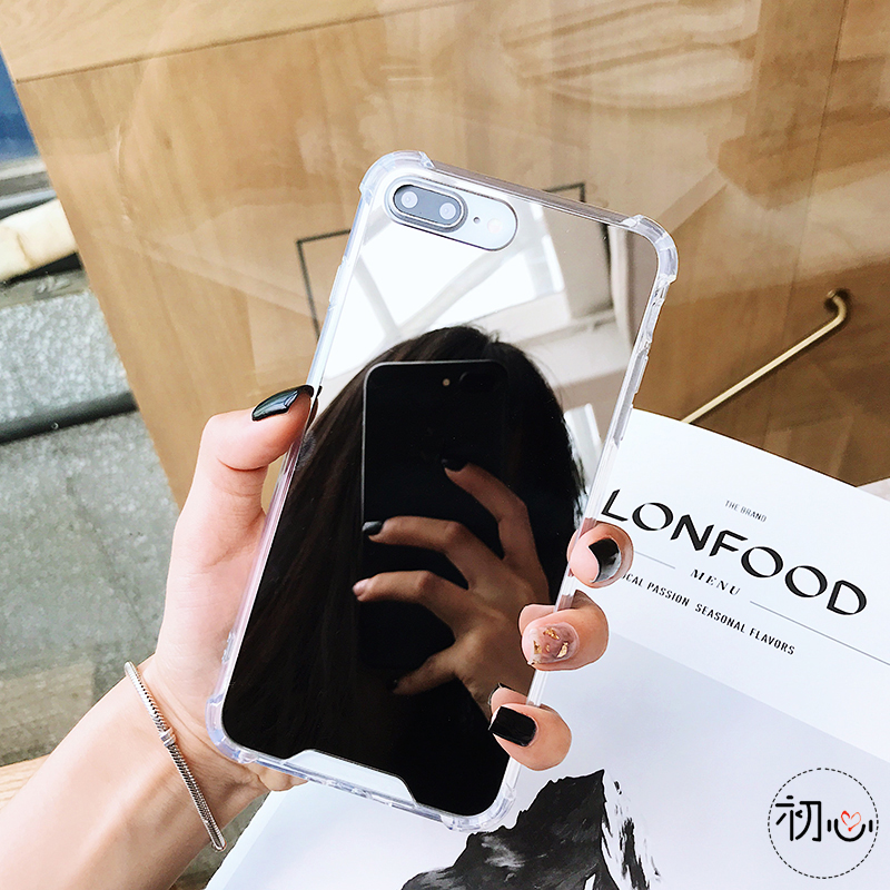 iStylishmall - Gasbag Drop Proof Mirror Case For iPhone 7 8 Plus  X XR XS MAX