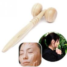 2017 NEW Comfortable Wood Face Roller Head Massager Relax Therapy Tool Massage Hand Arm Health Tool