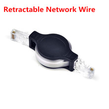 Free shipping! Portable Retractable RJ45 Network Line Extension Internet Network wire Ethernet Cable(China)
