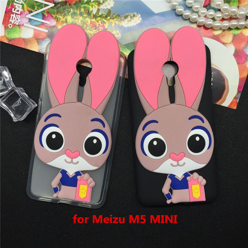 Luxury Rabbit Soft Case Meizu M5 Mini Cartoon Cover Phone Cases Fashion Meizu M5 Mini TPU Silicone Capa Fundas Shell