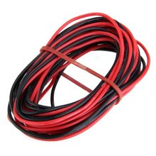 2015 Hot 2x 3M 20 Gauge AWG Silicone Rubber Wire Cable Red Black Flexible
